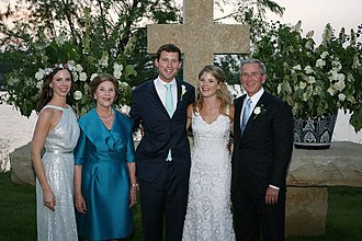 Jenna Bush Hager - Barbara Bush (left), Laura Bush, newlyweds Henry and Jenna Hager, and George W. Bush shortly after the wedding ceremony on May 10, 2008, at the Prairie Chapel Ranch near Crawford, Texas