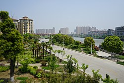 A view of Gaoyou urban area north of Haichao Bridge