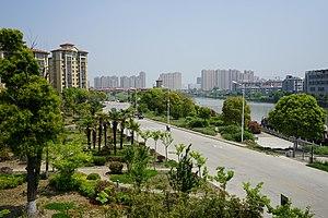 Gaoyou - A view of Gaoyou urban area north of Haichao Bridge
