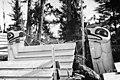 Haida totems in Kasaan, Alaska, between 1910 and 1920 (AL+CA 6682).jpg