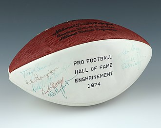 Pro Football Hall of Fame - A football signed by the 1974 Pro Football Hall of Fame enshrinement class