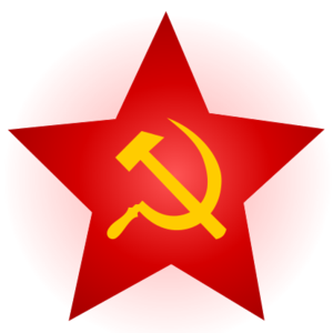 1971 JVP insurrection - Image: Hammer and Sickle Red Star with Glow