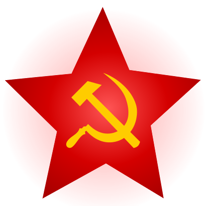 Hammer and Sickle Red Star with Glow