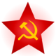 Hammer and sickle and red star