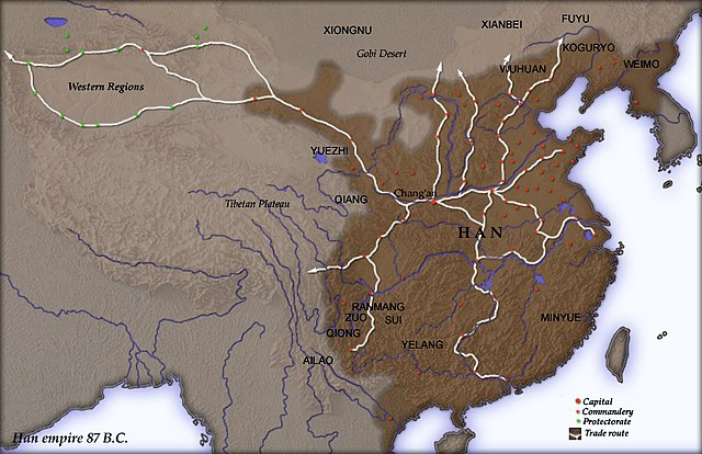 map Han dynasty territory