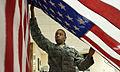Hanging up a freshly pressed U.S. flag.jpg