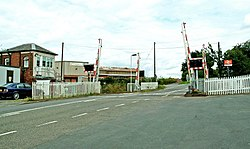 Hartlebury level crossing, looking northeast - geograph.org.uk - 883279.jpg