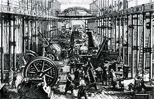 Economy - Sächsische Maschinenfabrik in Chemnitz, Germany, 1868