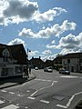Haslemere Road and Portsmouth Road mini-roundabout in Liphook, Hampshire, England 4.jpg