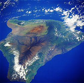 Foto satellitare dell'isola di Hawaii.