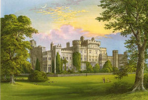 Hawarden Castle (18th century) - Gladstone's Hawarden Castle circa 1880.