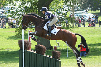 Jumping (horse) - Image: Hawley Bennett (CAN) riding round Badminton