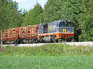 Solør Line - Hector Rail Vossloh G2000 BB hauling a lumber train