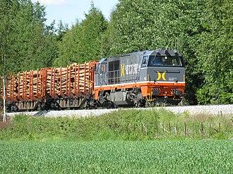 Solør Line - Hector Rail Vossloh G2000 BB hauling a lumber train