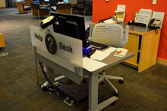 Help desk - A library help desk