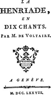<i>Henriade</i> epic poem by Voltaire
