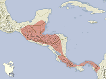 Heteromys desmarestianus distribution map.png