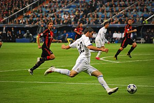 Gonzalo Higuaín - Gonzalo Higuaín during a match in the Champions League group stage against Milan.
