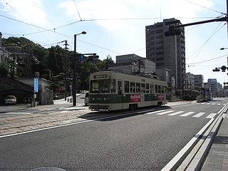 Hijiyama-shita Station railway station in Hiroshima, Hiroshima prefecture, Japan