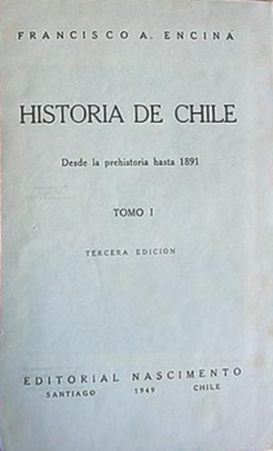 Francisco Antonio Encina - First page of Historia de Chile