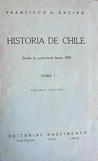 Francisco Antonio Encina - First page of Historia de Chile