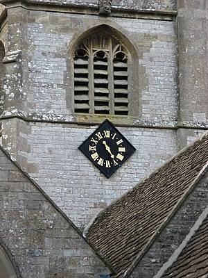 Church of the Holy Trinity, Newton St Loe - The one handed clock on the tower