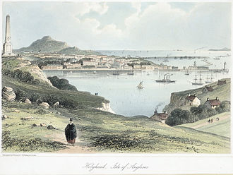 Holyhead - A view of Holyhead, c.1850
