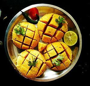 Dhokla - Home made dhokla