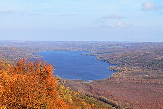 Honeoye Lake - Honeoye Lake as viewed from the Harriet Hollister Spencer State Recreation Area, October 2013.