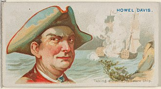 Howell Davis - Image: Howell Davis, Taking a Dutch Treasure Ship, from the Pirates of the Spanish Main series (N19) for Allen & Ginter Cigarettes MET DP835011