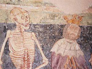 Česky: Detail fresky Danse Macabre. Hrastovlje...