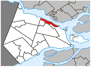 Hudson, Quebec - Image: Hudson Quebec location diagram
