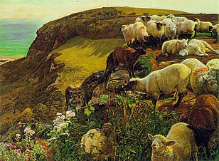 Holman Hunt's Our English Coasts; 1852.[128]
