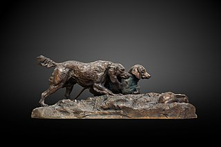 Hunting dog and rabbit by Antoine-Louis Barye-Musée de Grenoble