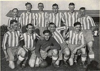 IK Sleipner - IK Sleipner, Swedish champion in football in 1938, standing from left: Hilding Sköld, Arne Linderholm, Tore Keller (captain), Harry Andersson, Gustaf Wetterström and Kurt Hjelm; kneeling Sven Unger, Roland Hjelm, Allan Johansson, Karl Johansson and Bernt Öhrström.