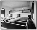 INTERIOR VIEW LOOKING NORTHWEST - Zion Evangelical Lutheran Church, River Road, Shawnee on Delaware, Monroe County, PA HABS PA,45-SHAWD.V,10-4.tif