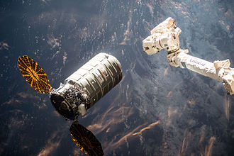 Cygnus CRS OA-6 - Cygnus CRS OA-6 approaching the ISS on 26 March 2016