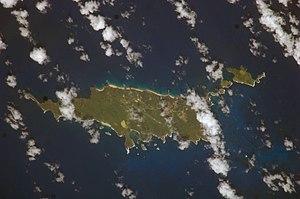 Fernando de Noronha - Satellite picture of Fernando de Noronha
