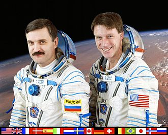 Expedition 8 - Image: ISS Expedition 8 crew