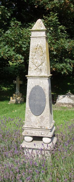 Grave and memorial to Ian Fleming at Sevenhamp...