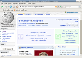 Screenshot van Wikipedia in IceCat