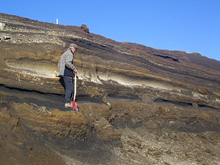 Marker horizon Stratigraphic units used to correlate the age of strata in rocks