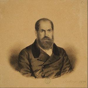 Domingo Faustino Sarmiento - Sarmiento portrayed by Ignacio Baz.