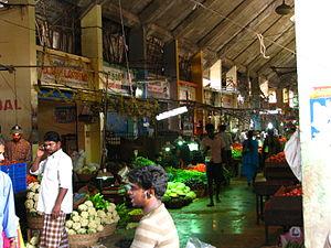 Wholesale marketing of food - Wholesale vegetable market in India.