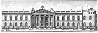 East India House - The Leadenhall Street frontage, as extended by Henry Holland and Richard Jupp in 1796–1800.
