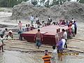 Installation of Experimental floating landing station at Meghai-Jamuna Adarsha ghat, Sirajganj 15.JPG