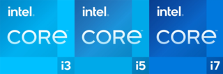 Intel Core Brand name that Intel uses for various mid-range to high-end consumer and business microprocessors