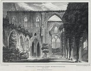 Interior of Tintern Abbey, Monmouthshire. East Window