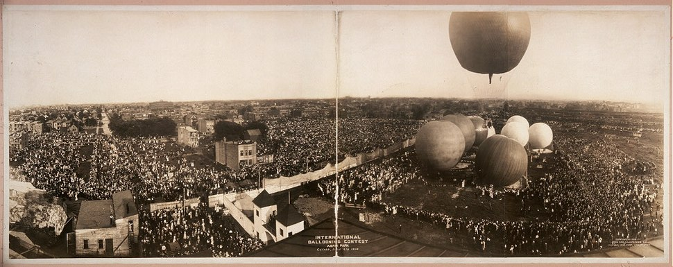 International Ballooning Contest Aero Park Chicago July 4th 1908