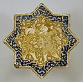 Iranian - Star Tile with Combat Scene - Walters 481288.jpg
